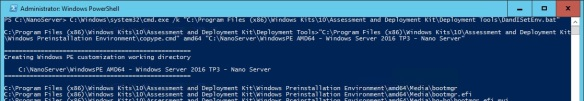 VMware + Windows Nano Server - Build Process 10 - Copy Windows PE amd64 media content to NanoServer folder
