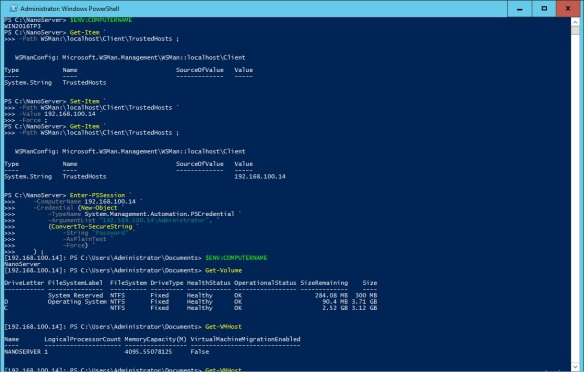 VMware + Windows Nano Server - Build Process 23 - Remoting to Nano Server using PowerShell