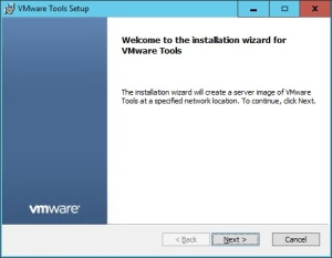 VMware + Windows Nano Server - Build Process 3.1 - VMware Tools Installation Wizard