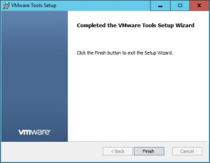 VMware + Windows Nano Server - Build Process 3.3 - VMware Tools Installation Wizard