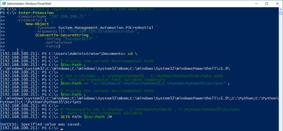 Windows Nano Server - Python - Step 3 - Configure Python Environment Path