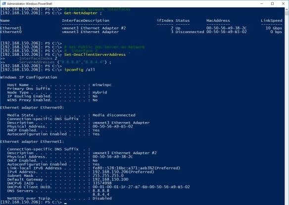 Windows Nano Server - Python - Step 5 - Configure Public DNS Name Resolution